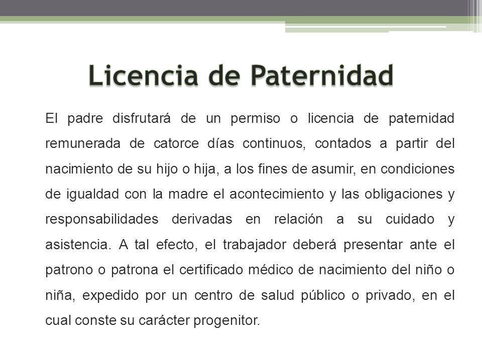 Licencia de Paternidad