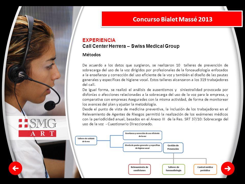 Concurso Bialet Massé 2013 EXPERIENCIA