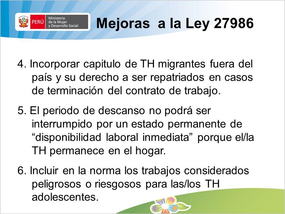 Mejoras a la Ley 27986