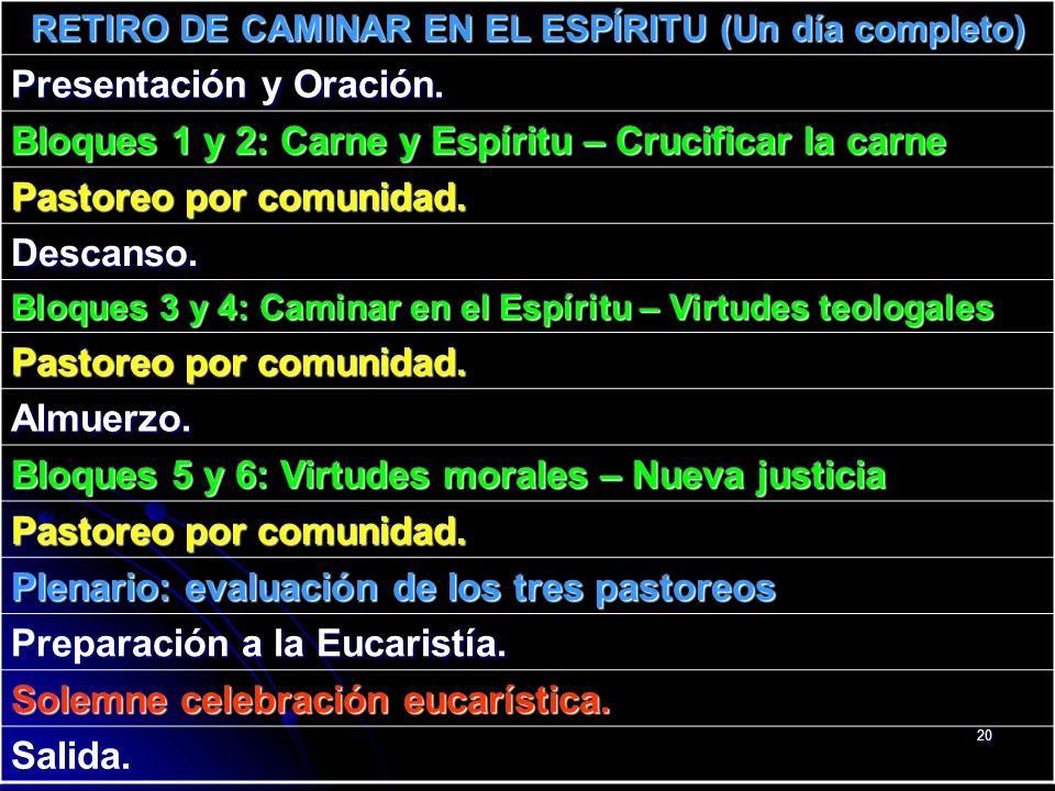 RETIRO DE CAMINAR EN EL ESPÍRITU (Un día completo)