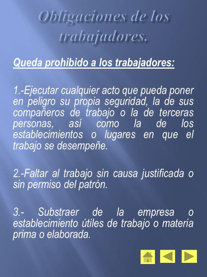 Obligaciones de los trabajadores.