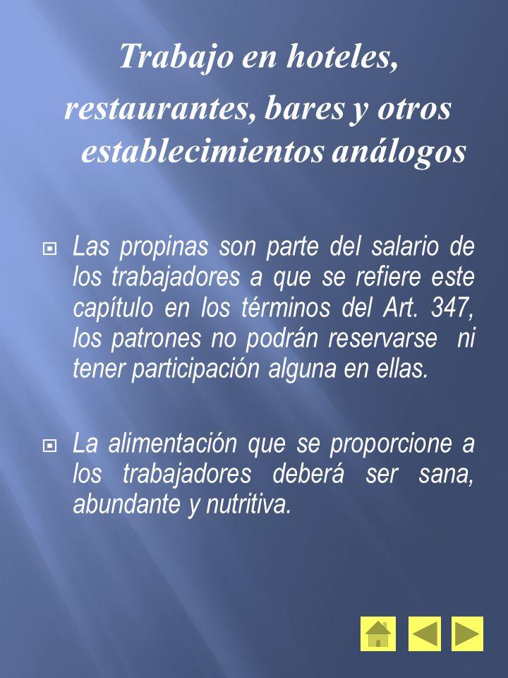 restaurantes, bares y otros establecimientos análogos