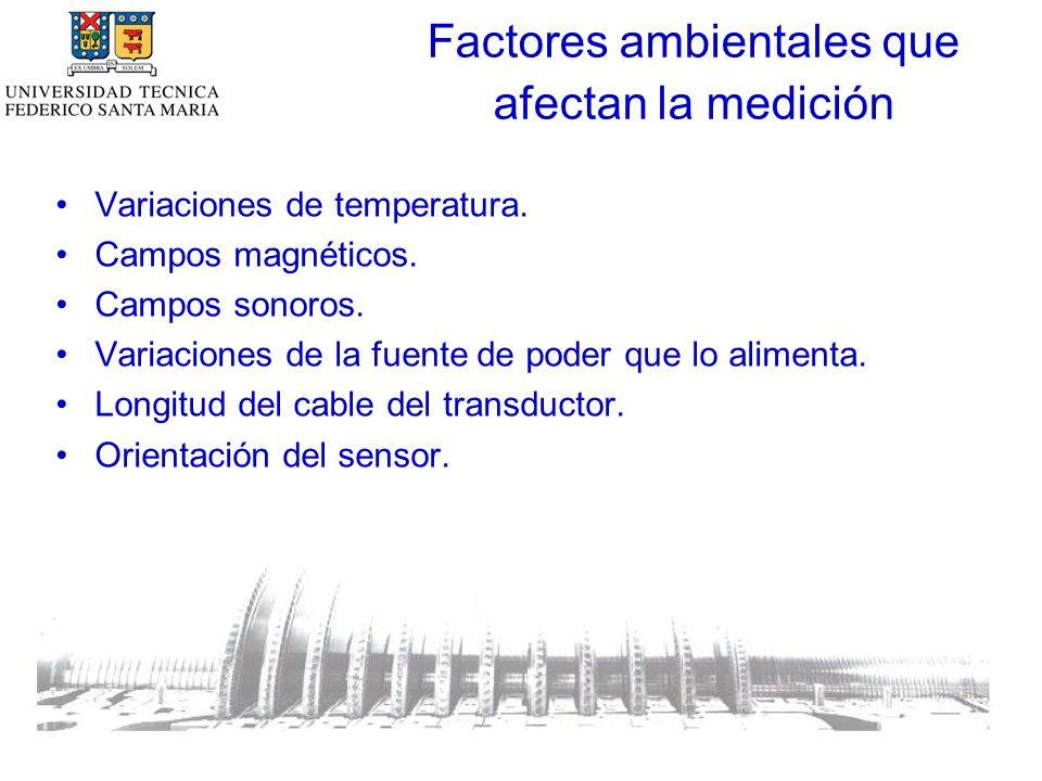Factores ambientales que afectan la medición