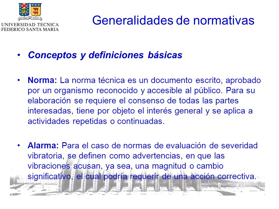 Generalidades de normativas