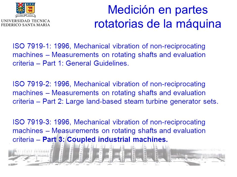 Medición en partes rotatorias de la máquina