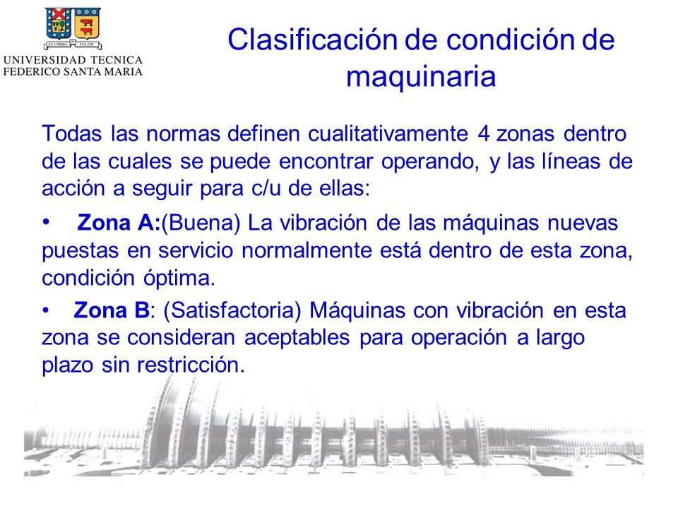 Clasificación de condición de maquinaria