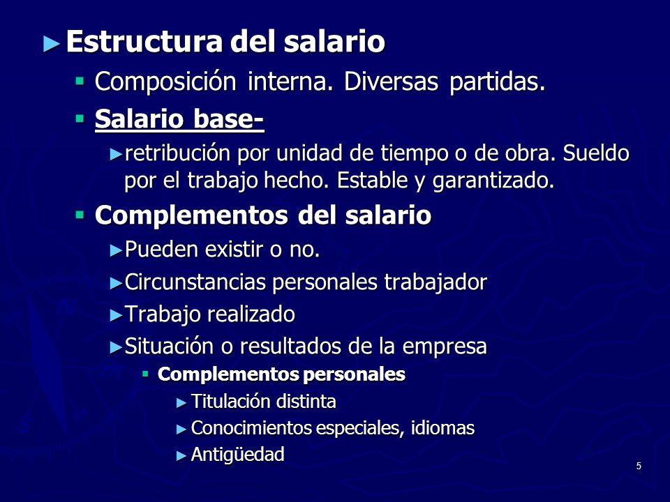 Estructura del salario