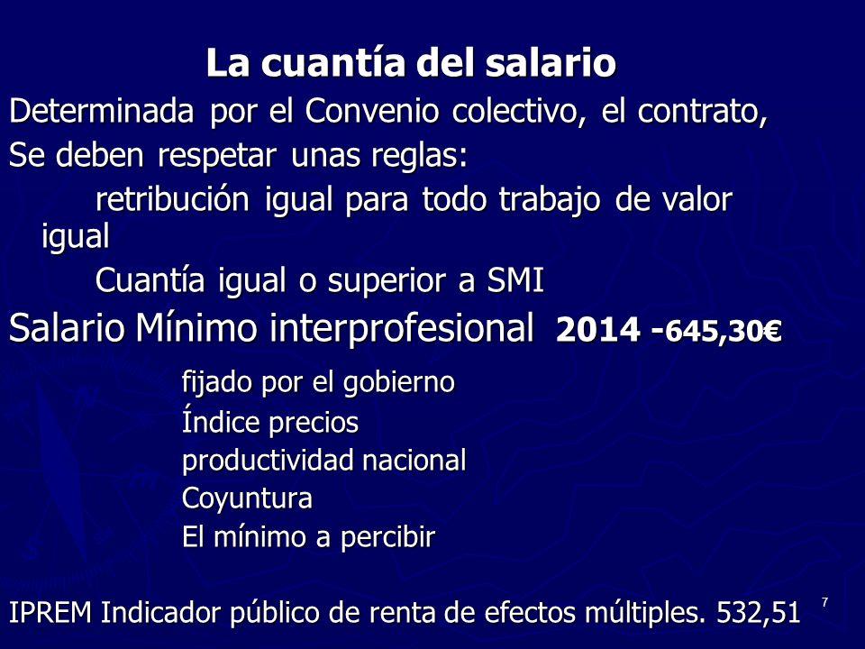 Salario Mínimo interprofesional 2014 -645,30€ fijado por el gobierno