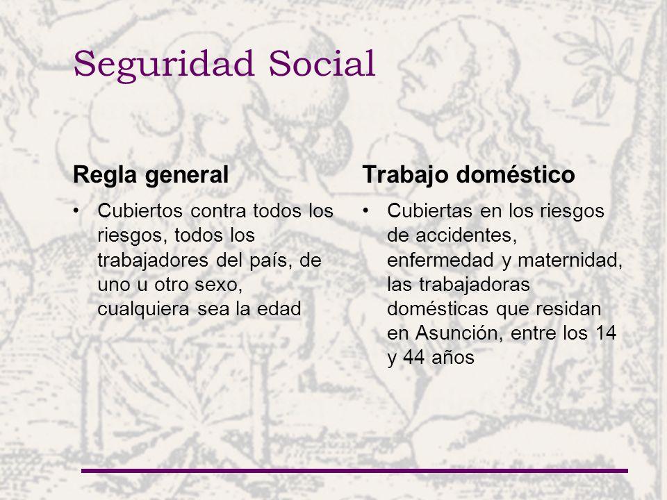 Seguridad Social Regla general Trabajo doméstico