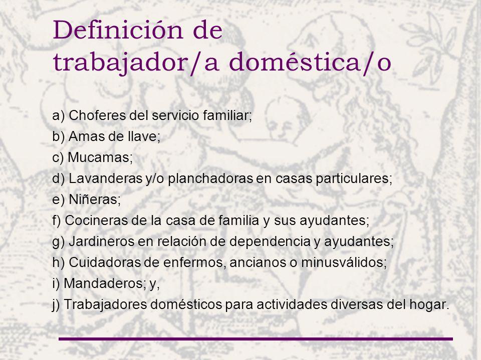 Definición de trabajador/a doméstica/o