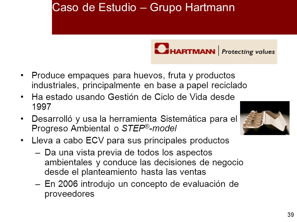 Caso de Estudio – Grupo Hartmann