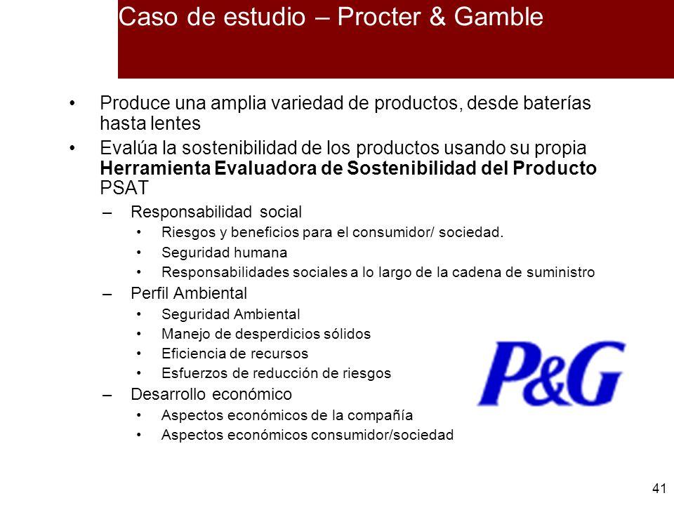 Caso de estudio – Procter & Gamble