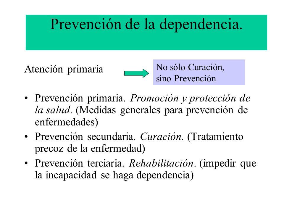 Prevención de la dependencia.