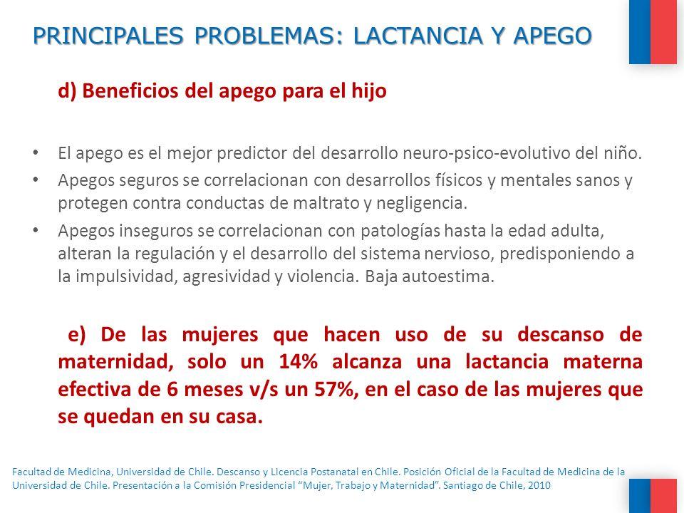 PRINCIPALES PROBLEMAS: LACTANCIA Y APEGO