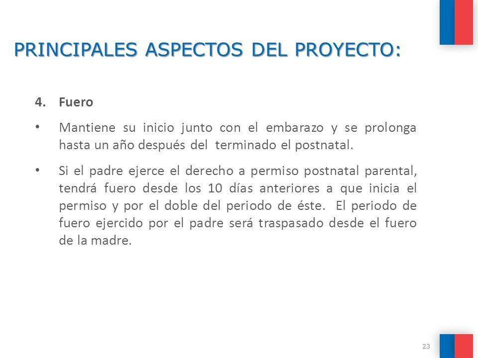 PRINCIPALES ASPECTOS DEL PROYECTO: