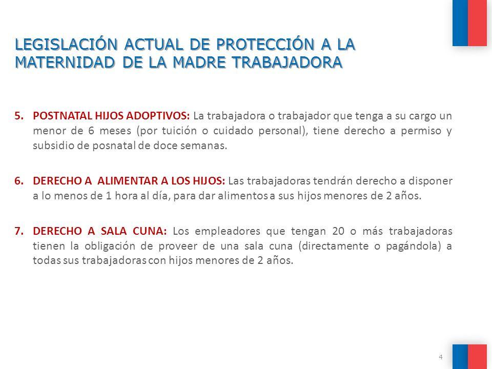 LEGISLACIÓN ACTUAL DE PROTECCIÓN A LA MATERNIDAD DE LA MADRE TRABAJADORA