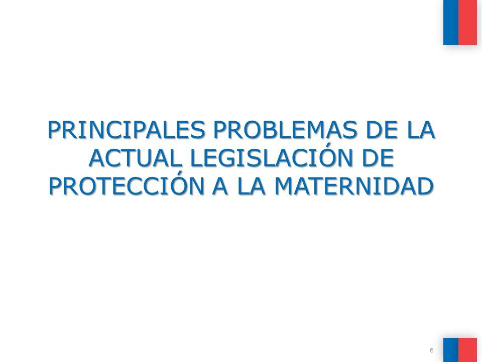 PRINCIPALES PROBLEMAS DE LA ACTUAL LEGISLACIÓN DE PROTECCIÓN A LA MATERNIDAD