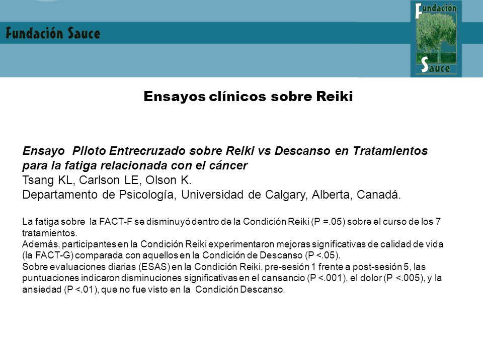 Ensayos clínicos sobre Reiki