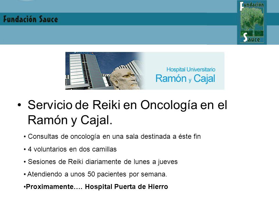 Servicio de Reiki en Oncología en el Ramón y Cajal.
