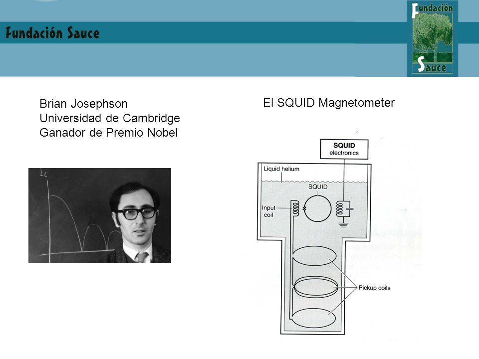 Brian Josephson Universidad de Cambridge Ganador de Premio Nobel El SQUID Magnetometer