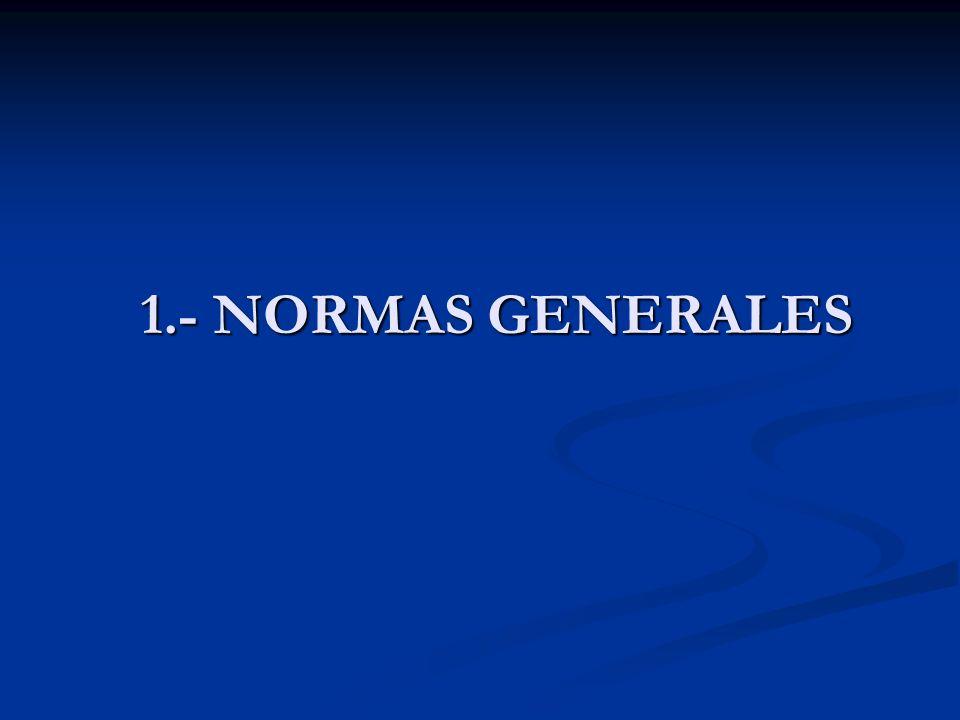 1.- NORMAS GENERALES