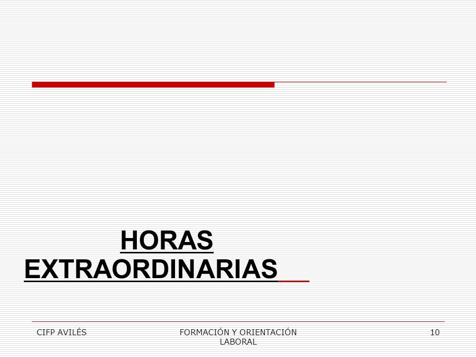 HORAS EXTRAORDINARIAS