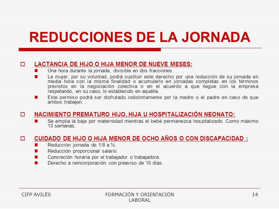 REDUCCIONES DE LA JORNADA