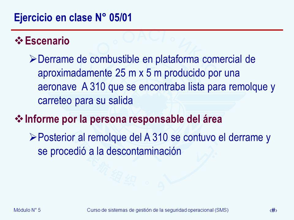 Ejercicio en clase N° 05/01 Escenario.