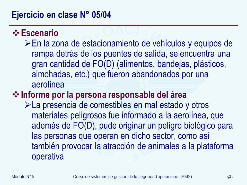 Ejercicio en clase N° 05/04 Escenario.