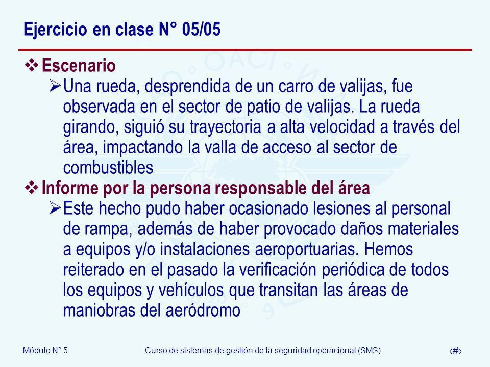 Ejercicio en clase N° 05/05 Escenario.