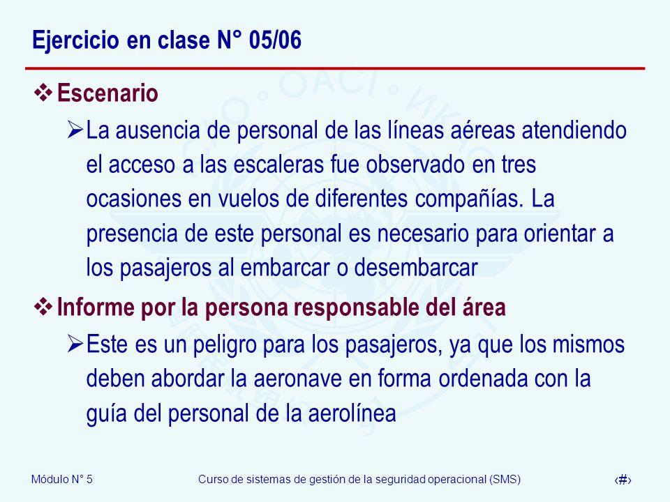 Ejercicio en clase N° 05/06 Escenario.