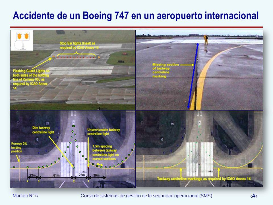 Accidente de un Boeing 747 en un aeropuerto internacional