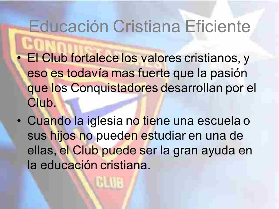 Educación Cristiana Eficiente