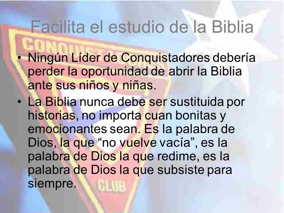Facilita el estudio de la Biblia