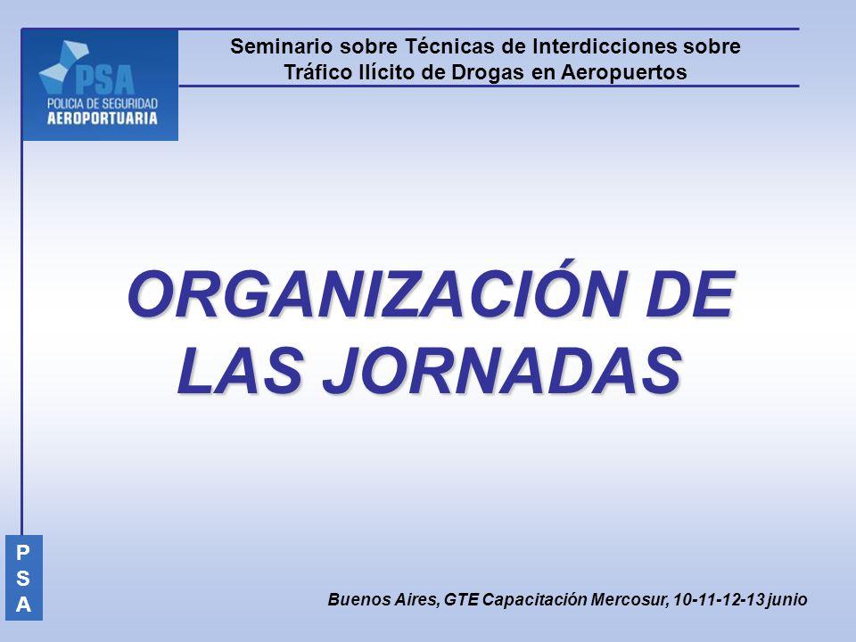 ORGANIZACIÓN DE LAS JORNADAS
