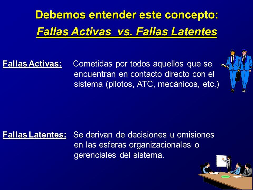 Debemos entender este concepto: Fallas Activas vs. Fallas Latentes