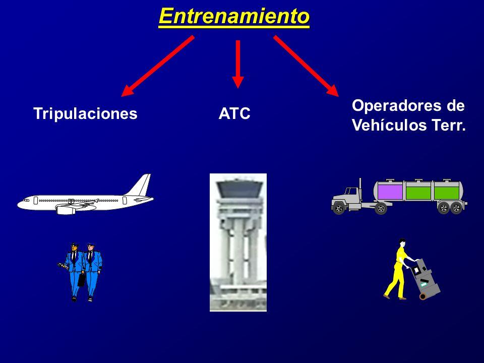 Entrenamiento Operadores de Vehículos Terr. Tripulaciones ATC
