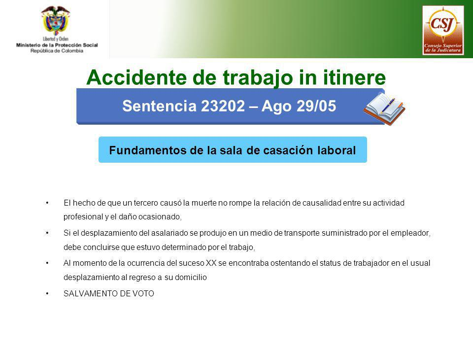 Accidente de trabajo in itinere