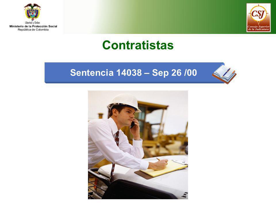 Contratistas Sentencia 14038 – Sep 26 /00