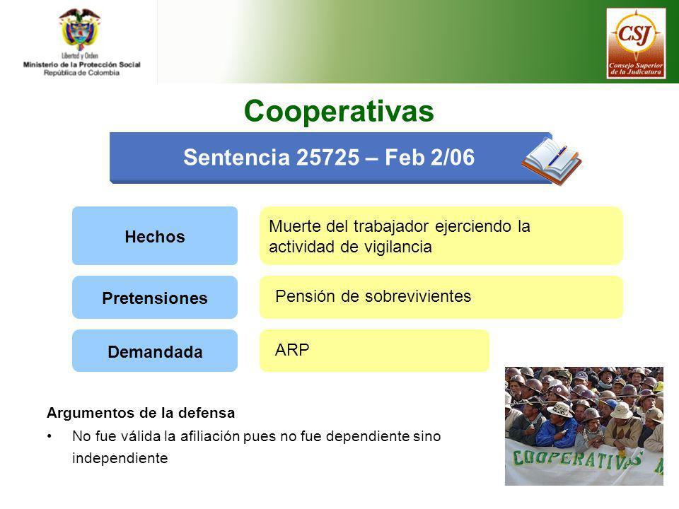 Cooperativas Sentencia 25725 – Feb 2/06