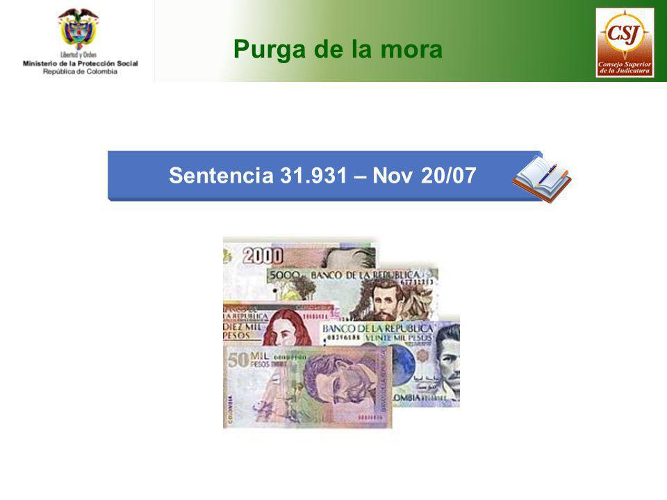 Purga de la mora Sentencia 31.931 – Nov 20/07