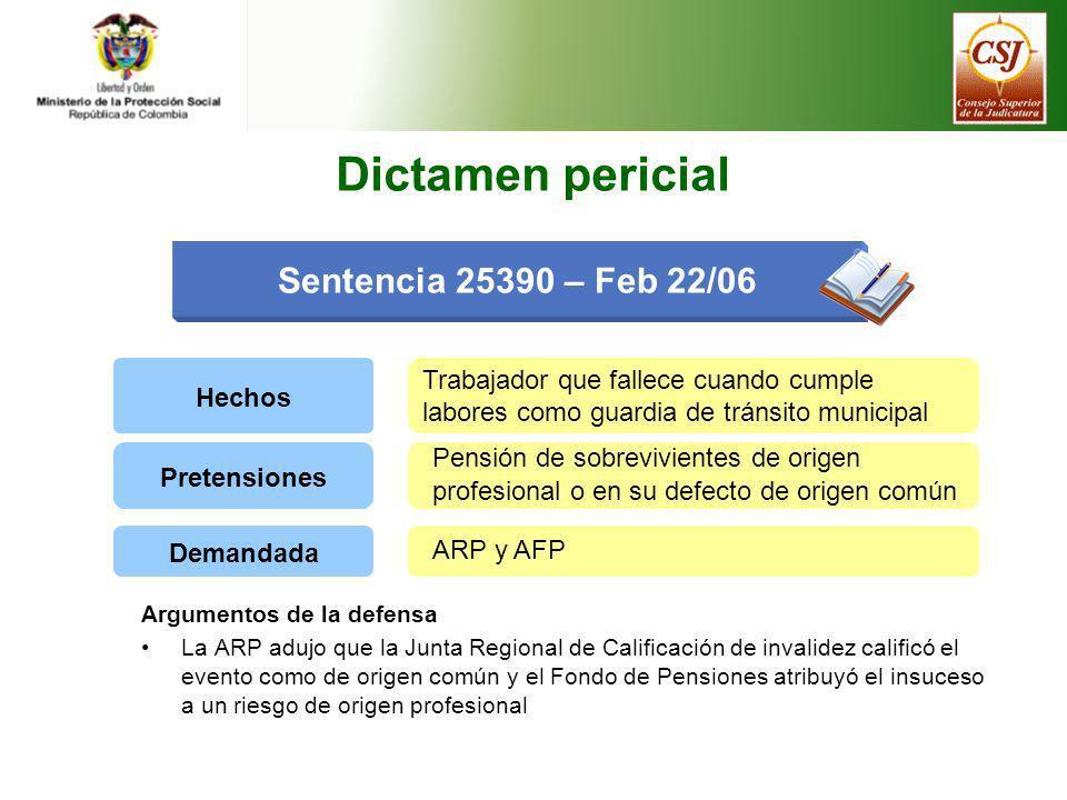 Dictamen pericial Sentencia 25390 – Feb 22/06