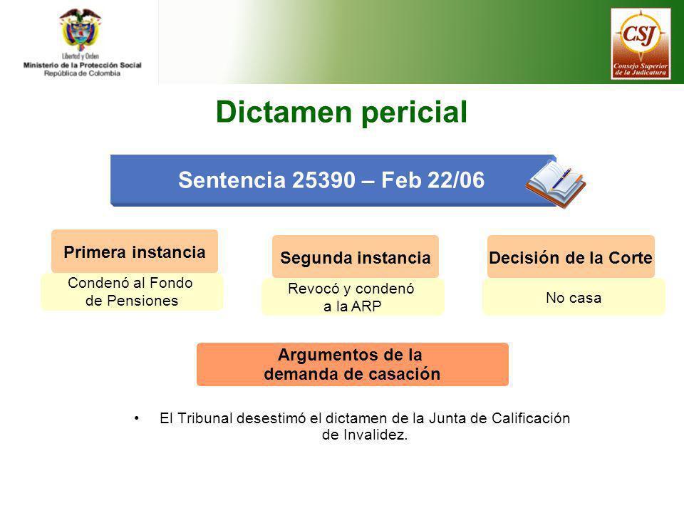 Dictamen pericial Sentencia 25390 – Feb 22/06 Primera instancia