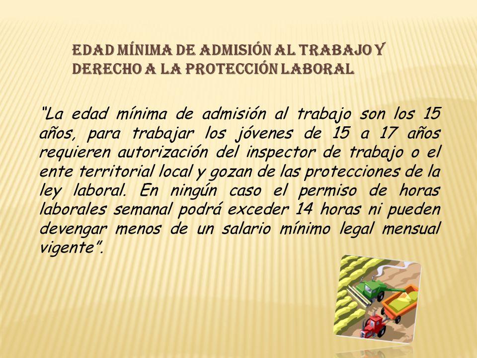 Edad mínima de admisión al trabajo y derecho a la protección laboral