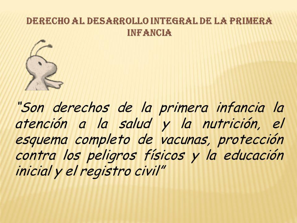Derecho al desarrollo integral de la primera infancia