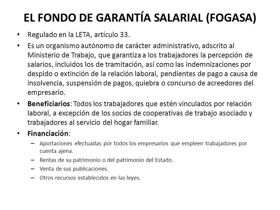 EL FONDO DE GARANTÍA SALARIAL (FOGASA)
