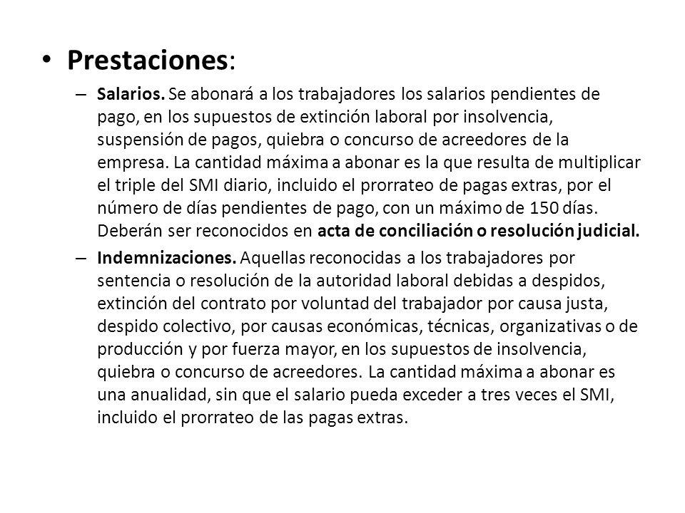 Prestaciones: