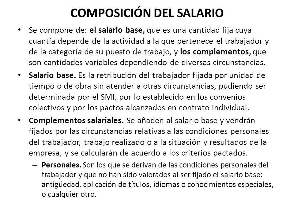 COMPOSICIÓN DEL SALARIO