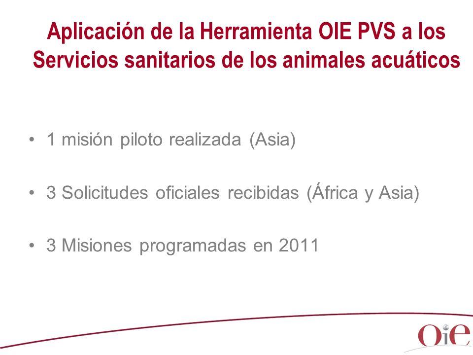 Aplicación de la Herramienta OIE PVS a los Servicios sanitarios de los animales acuáticos
