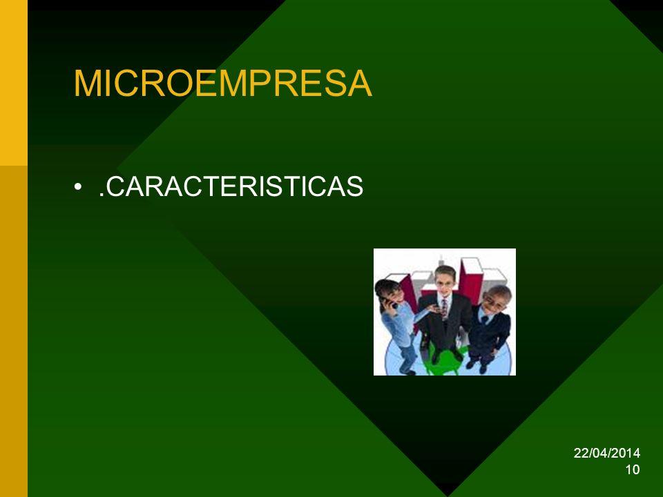 MICROEMPRESA .CARACTERISTICAS 29/03/2017